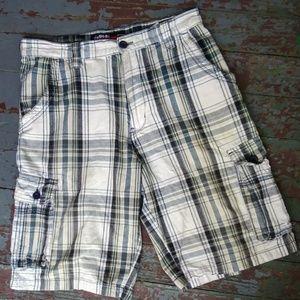 Airwalk Men's Cargo Shorts Blue and Gray Size 30